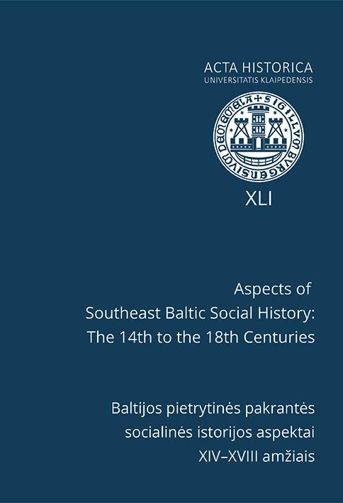Acta Historica Universitatis Klaipedensis Cover