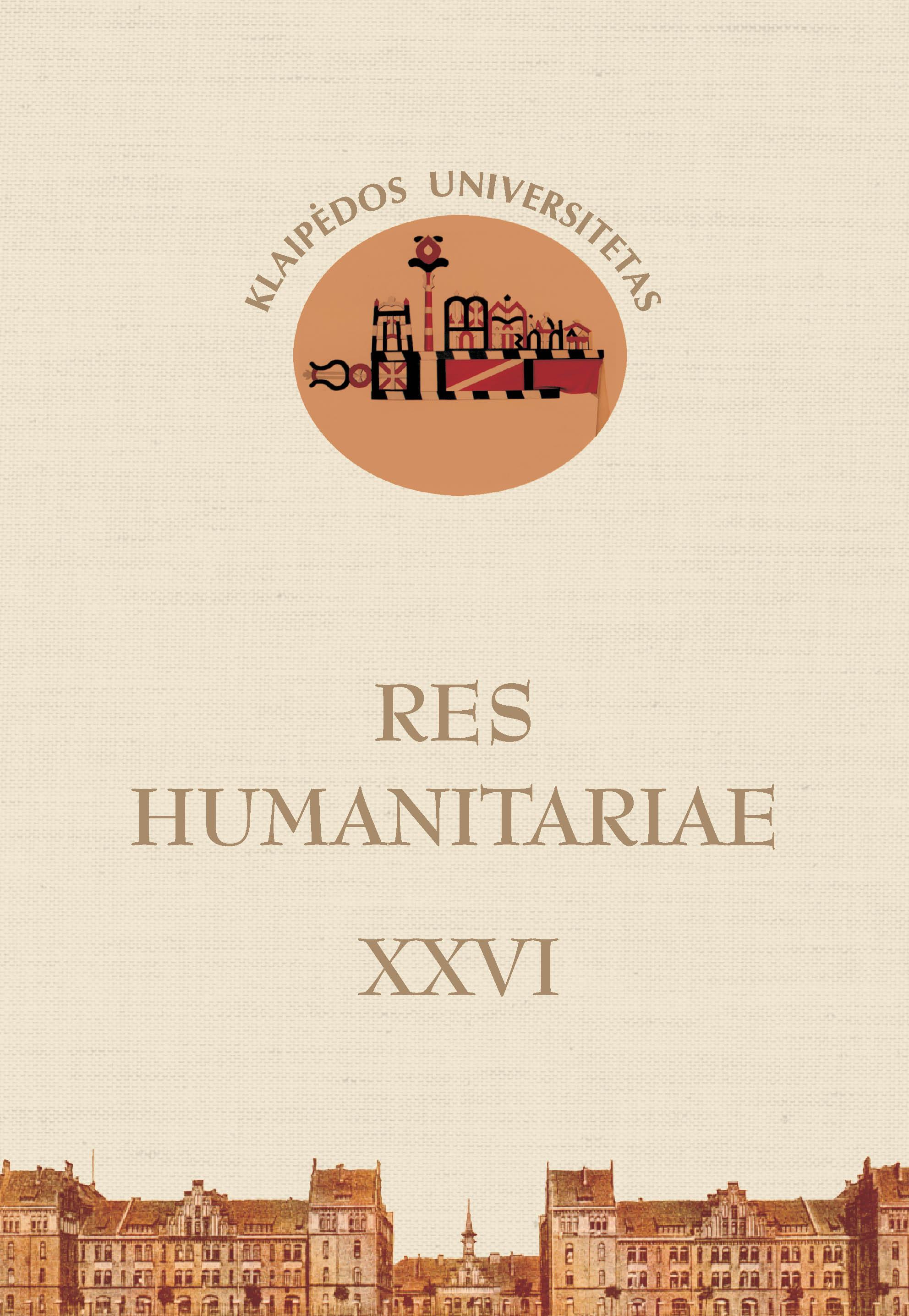 Res Humanitariae Cover